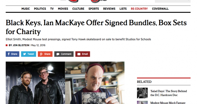 Rolling Stone.com – Black Keys, Ian MacKaye Offer Signed Bundles, Box Sets for Charity